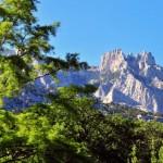The Crimean mountains.
