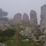Демерджи.  в тумане-стражи гор