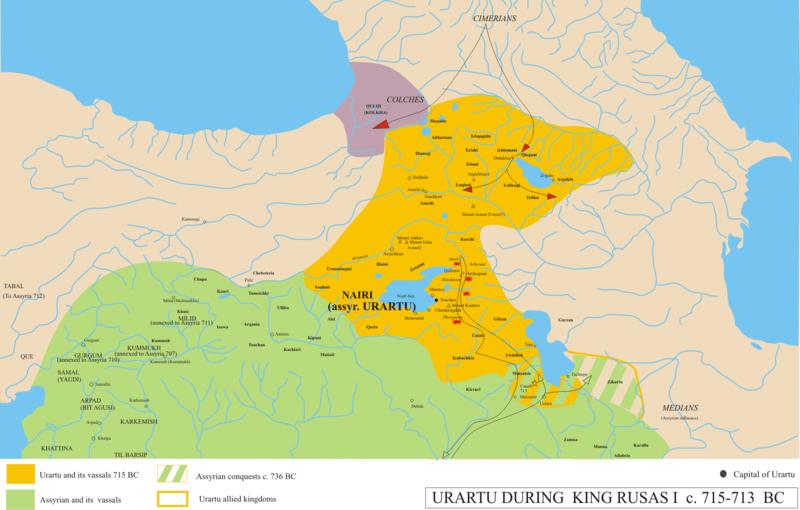 Походы киммерийцев на Колхиду и Урарту-715г.до н.э.