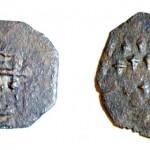 Монета Тмутараканского княжества. Подражание византийскому миллиарисию. Медь. X—XI век