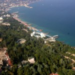 Yalta. The view from the helicopter