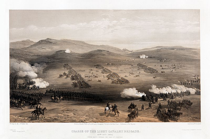 The Charge of the Light Brigade at Balaklava by William Simpson-855