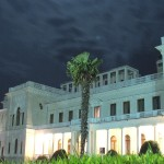 the Livadia Palace at night