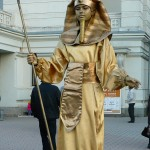 живая скульптура-фараон