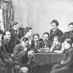 Chekhov read his play for the actors of MoscowArtTheatre
