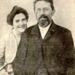 Chekhov with his wife Olga Knipper