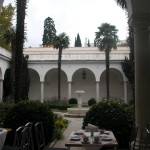the Livadia Palace. the Italian patio