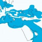 Океан Тетис (голуб. цв.) 30 млн л. назад...и возвышались Крымские горы