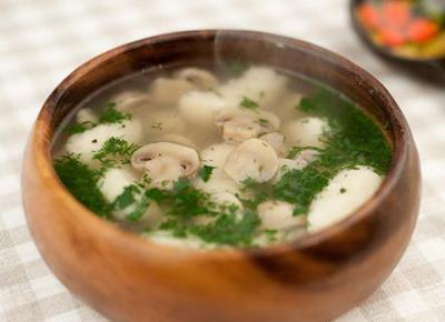 галушки с супом