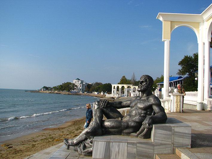 Первый Евпаторийский курортник - Отдыхающий Геракл