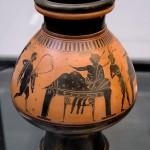 Псиктер с изображением симпосия. 510 г. до н. э.