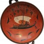 килик-Дионис в ладье-чаша-550г до н.э.