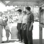 До свидания, мальчики!  пляж, во время съёмки фильма -1964г