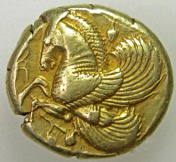 7 - Мисии, Lampsakos. 500-450 до н. EL Статер (15,34 г).Пегас влево