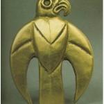 звериный стиль-Бляха в виде хищной птицы (кон. VII - нач. VI вв. до н.э.)