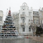 С первым снегом, Евпатория!