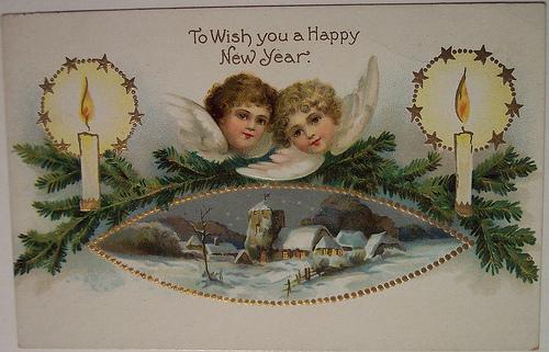 Когда появилась новогодняя открытка