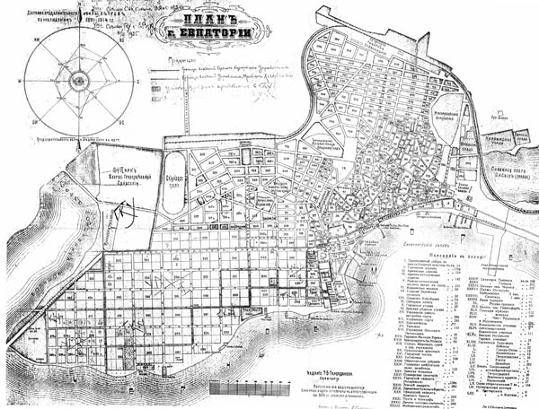 Старая карта Евпатории 7172*5500