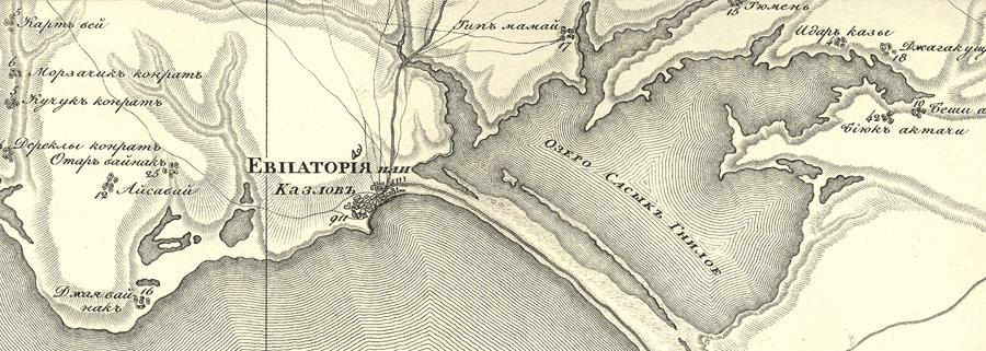 Старая карта евпатории