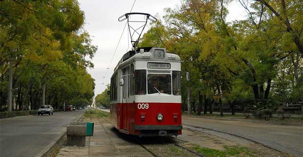 Трамвайный маршрут №3 в Евпатории - самый короткий в мире