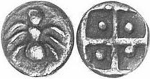 Пантикапей-500г. до н.э.Серебро. Муравей (Мермекий) и засеянное поле