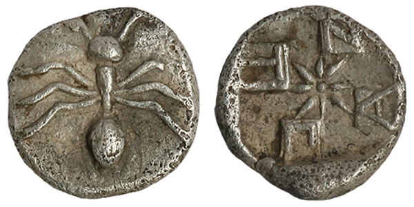 Тетартемарий, сереьро. 420г.до н.э.-муравей (Мермекий)-ПАNТI