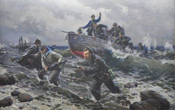 Картина художника Виктора Пузырькова «Черноморцы» (1947 год).