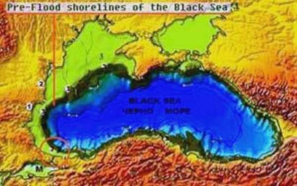 Карта Чёрного моря 5600 г. до н.э.