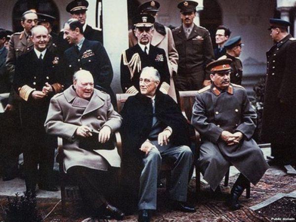 Ялтинская конференция - Россия, США, Великобритания