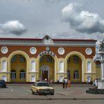Железнодорожный вокзал Евпатории.