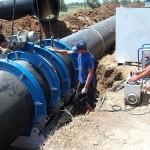 В Евпаторию прокладывают новый водовод.