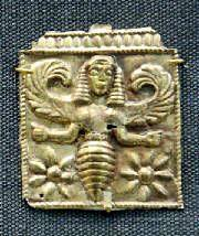 апи-минойская богиня крылатая- 7 в до н.э. Родос (Камирос)