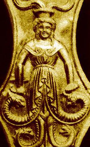 -курган больш.Цимбалка.-Змееногая богиня скифов.