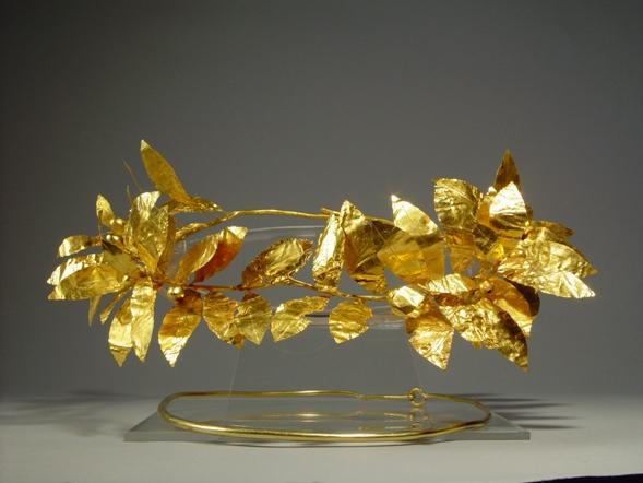 золотой венок из кургана Могиланово (Болгария)