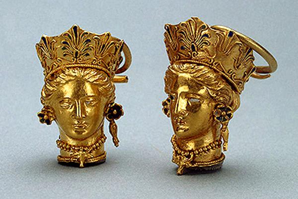 1-Боспорское царство, Пантикапей. Каменная гробница 1840 -серьги-350г.до.н.э.
