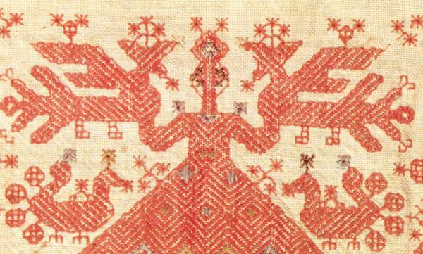 великорусская старинная вышивка