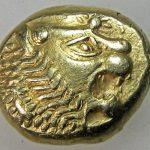 Золотые греческие монеты Лидии.