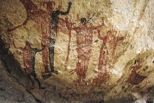 Great Mural Rock Art , Baja Mexico-7500 y.o
