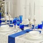 Сервировка новогоднего стола.