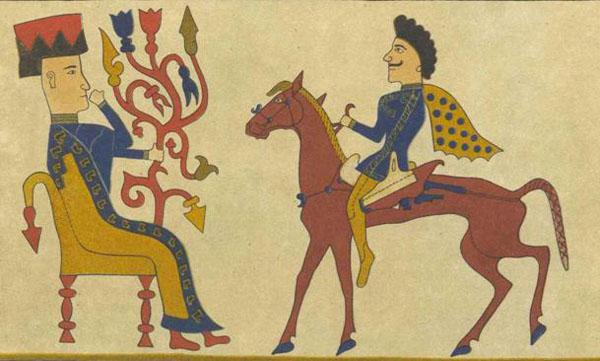 Войлочный ковер из Пазырыкского кургана
