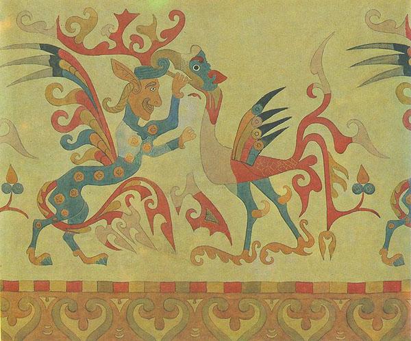 Войлочный ковер из V Пазырыкского