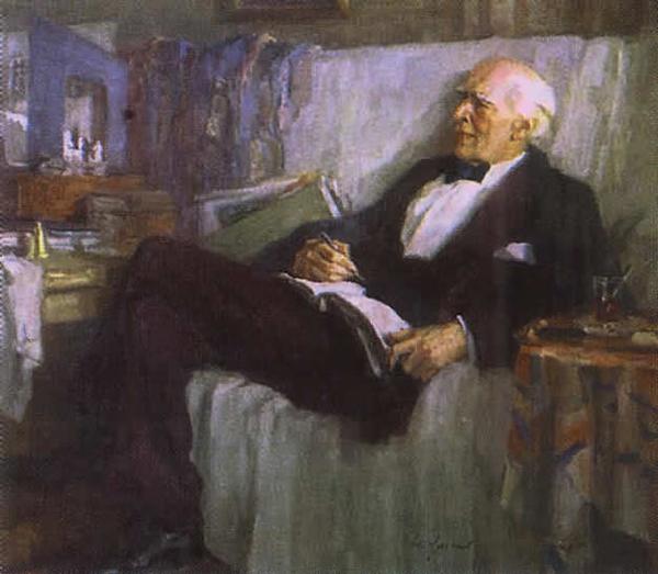 Станиславский за работой 1947.худ. Ульянов