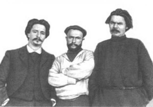 Сулержицкий, М. Горький Фото, 1902.