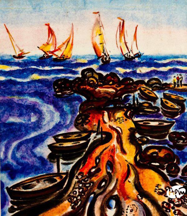 Яхты на море. 1983