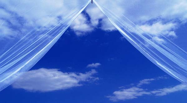 небо открывается