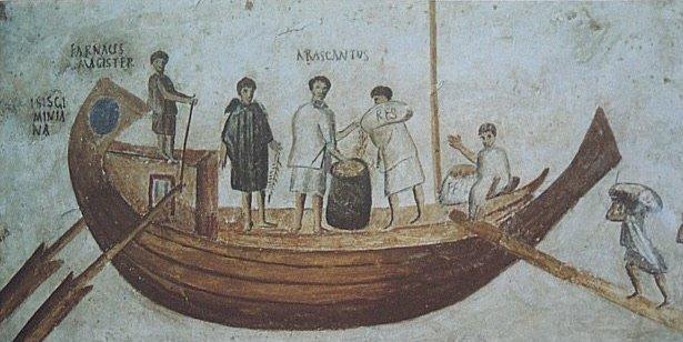 Торговое судно на римской мозаике III в. до н.э.