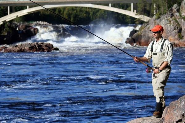 рыбалка на севере швеции
