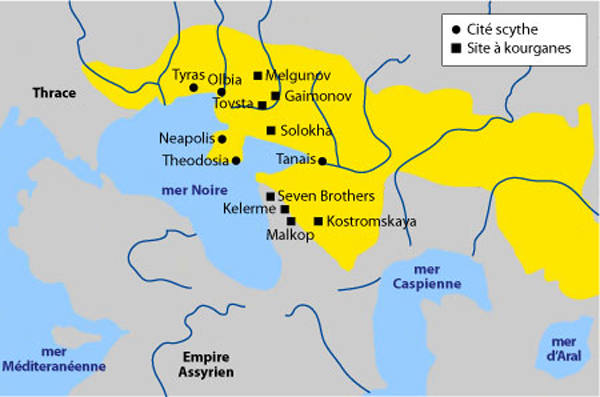 The territory of the Scythians