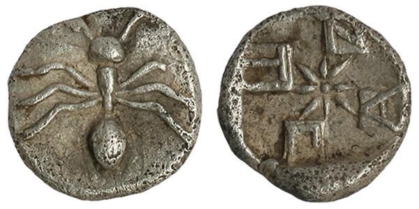 Тетартемарий-сереьро-420г.до н.э.-муравей-ПАNТI