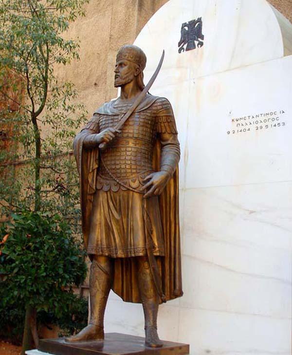 Константин XI-Палеолог.-памятник-в-Афинах